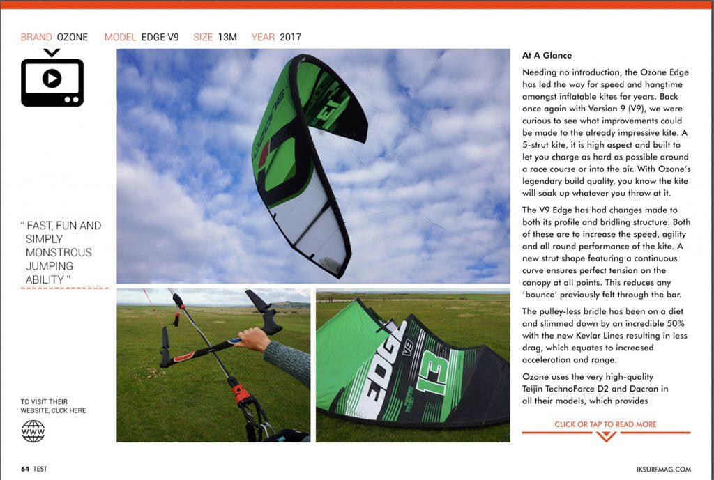 IKSURFMAG review the Ozone EDGE V9