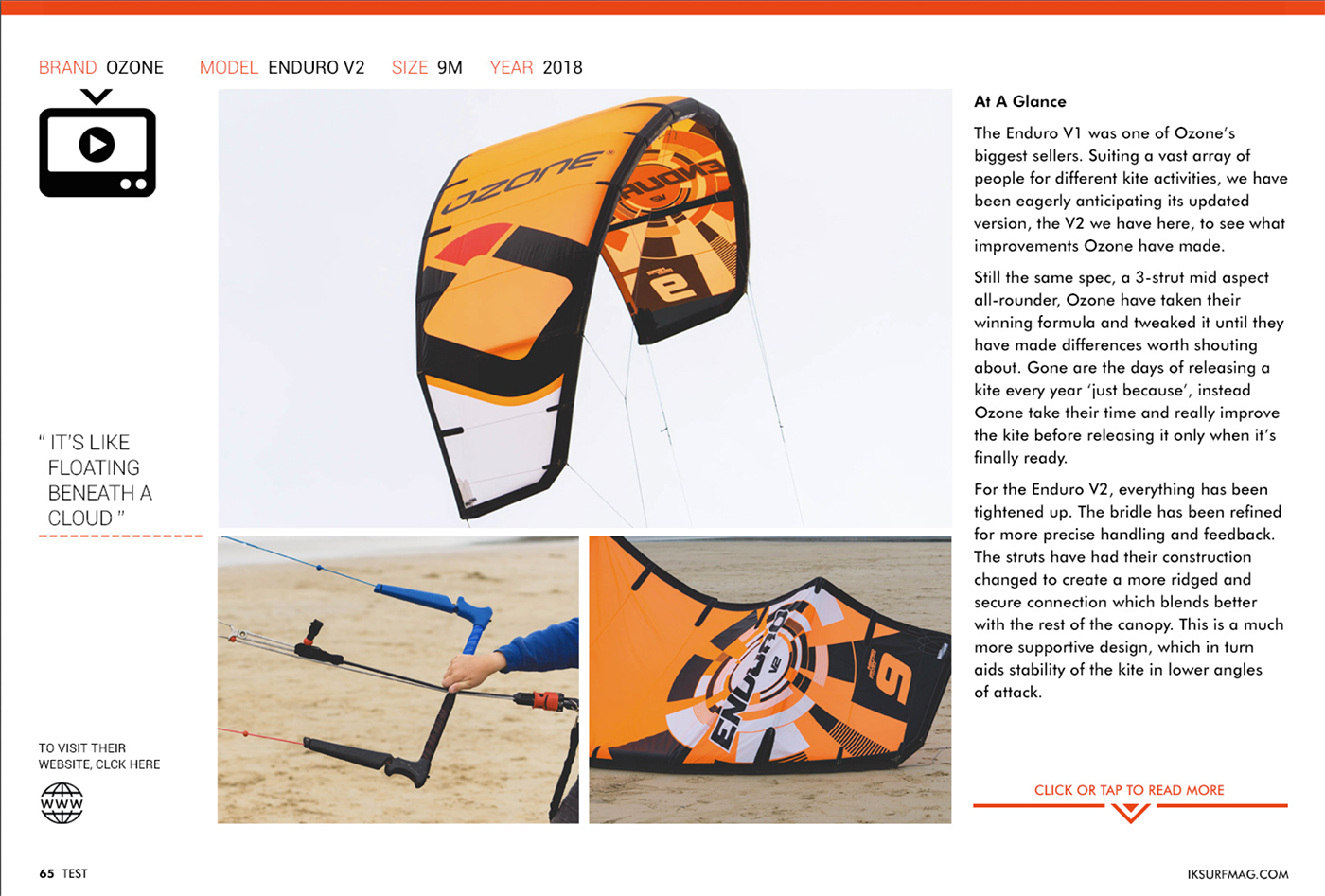 IKSURFMAG review the Ozone Enduro V2
