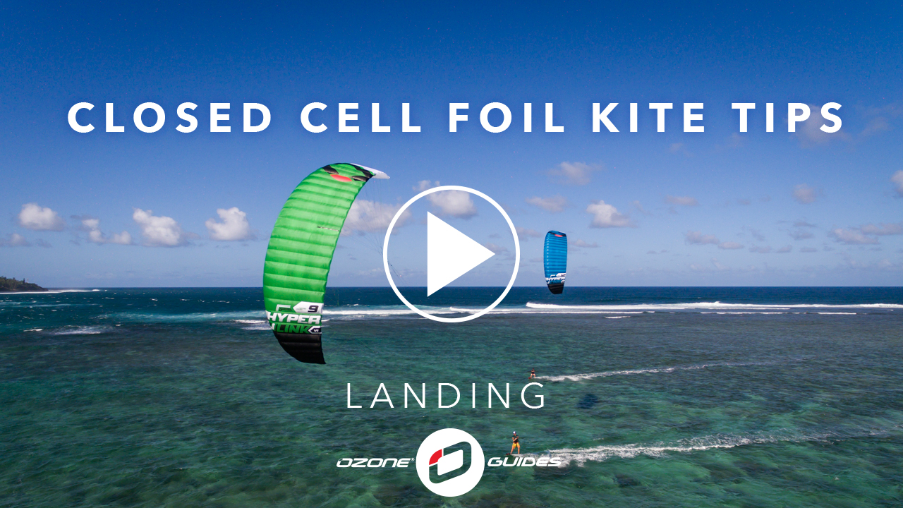 Ozone Closed Cell Foil Kites – Landing