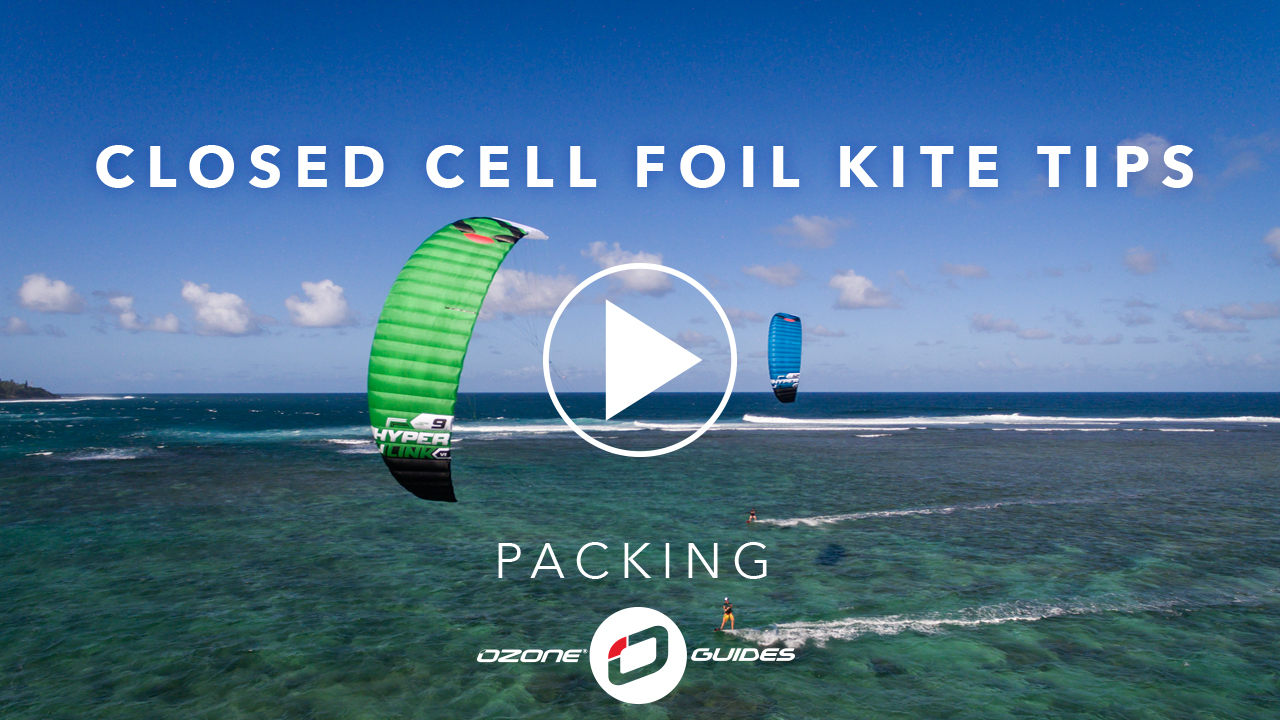 Ozone Closed Cell Foil Kites – Packing
