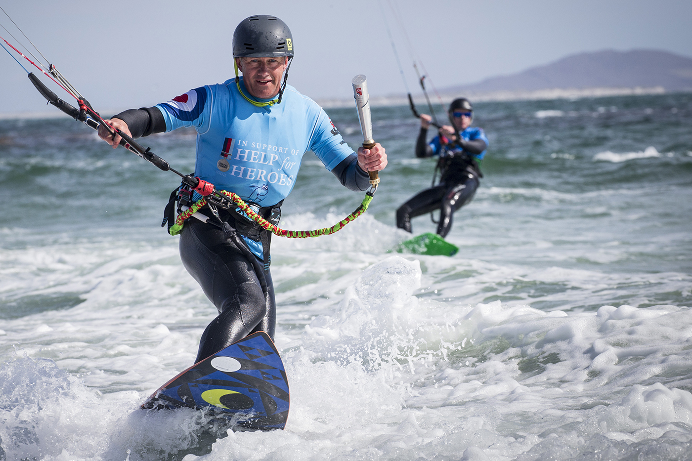 Royal Air Force Takes 100th Birthday Celebrations Kitesurfing in the Outer Hebrides