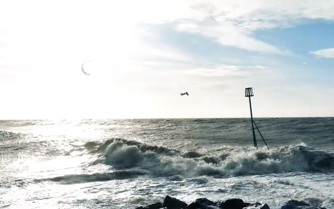 Oli Sweeney – Windy Day Kitesurfing