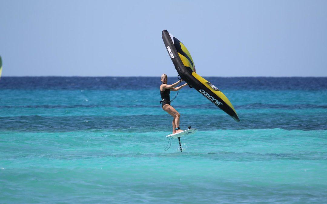 Wingsurfing in Barbados