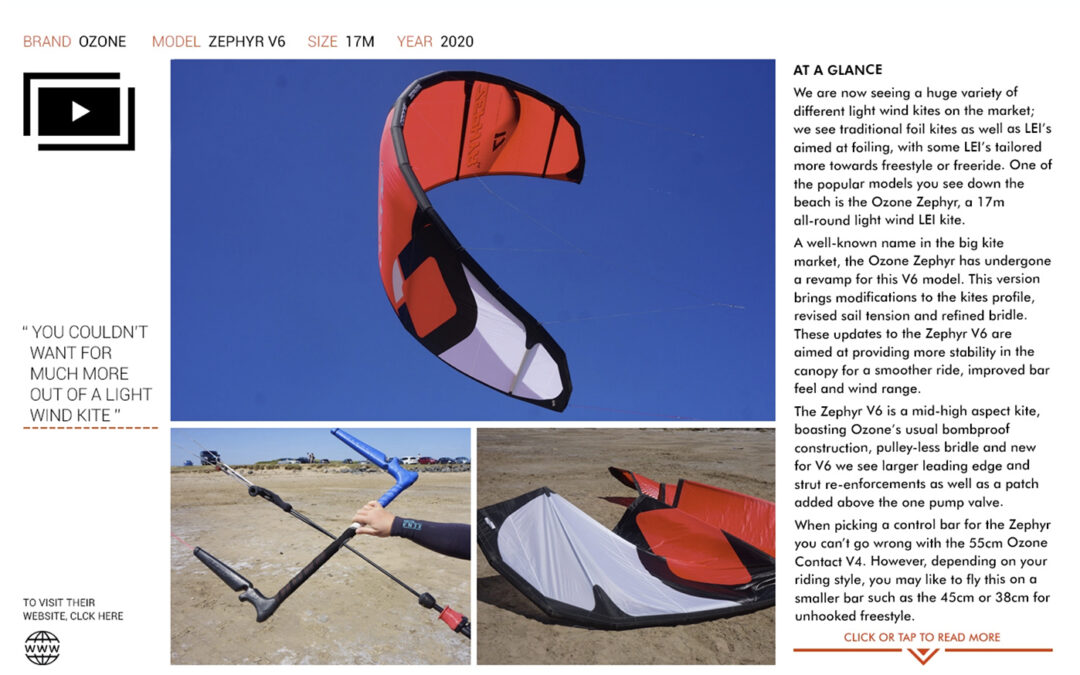 IKSURFMAG Review the Zephyr V6