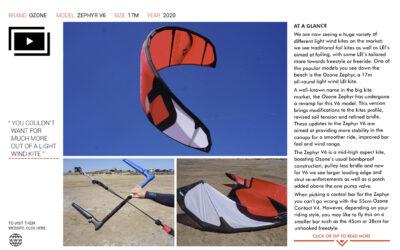 IKSURFMAG Review the Zephyr V6