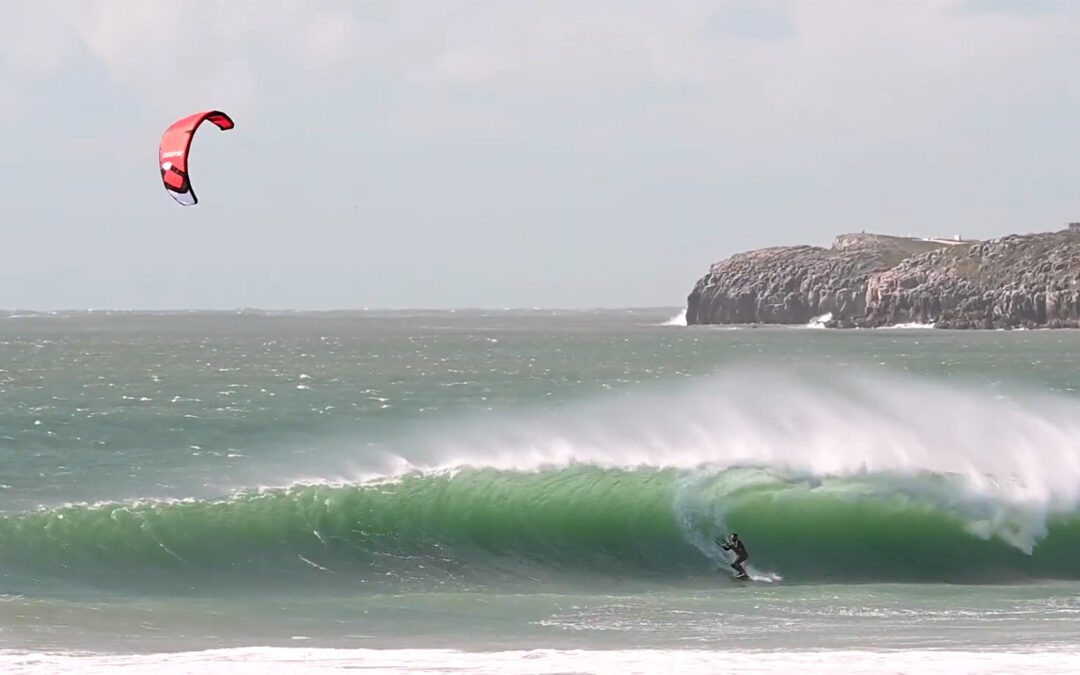 Paulino Pereira ripping waves in Peniche